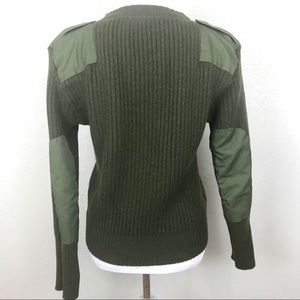 """Military green """"The Perfect Fit"""" wool sweater"""